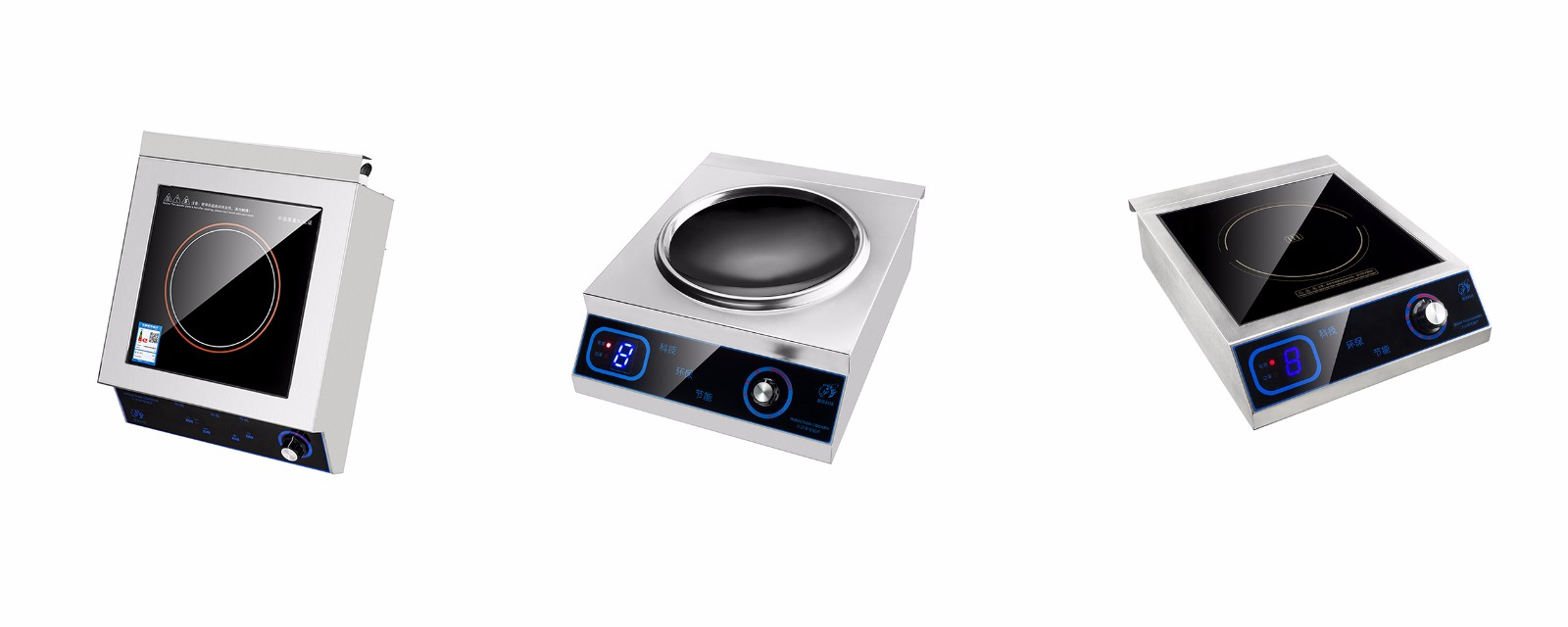 New model restaurant equipment induction wok cooker-3