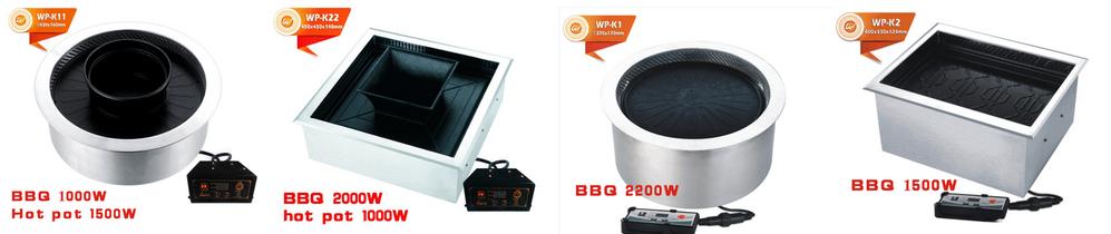 WINPAI barbecue Smokeless Hot Pot cooker manufacturer for restaurant-3
