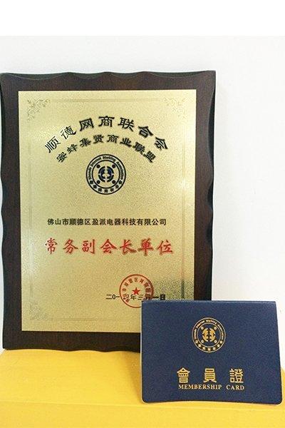Shunde Network Association executive vice president of the unit