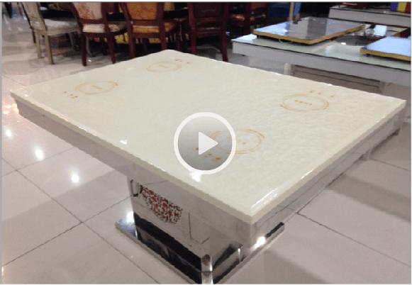 Marble dark hot pot induction cooker video-WINPAI