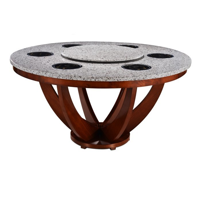 2015 new design round restaurant quartz hot pot table-WINPAI