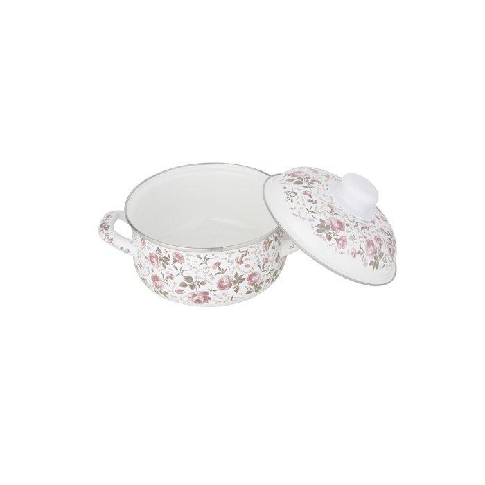 Mini enamel hot pot stockpot with Rose-WINPAI