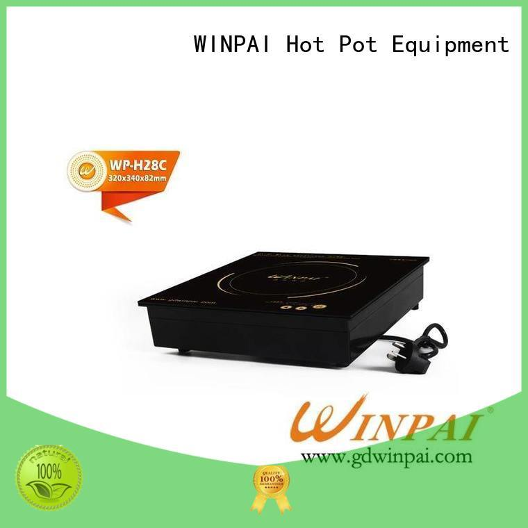 Top electric induction cooking stove double manufacturers for villa