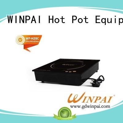WINPAI Brand plastic base on custom copper stock pot