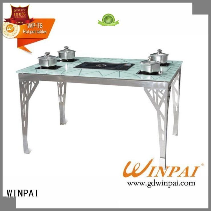chinese steamboat cooker sale WINPAI Brand korean bbq grill table