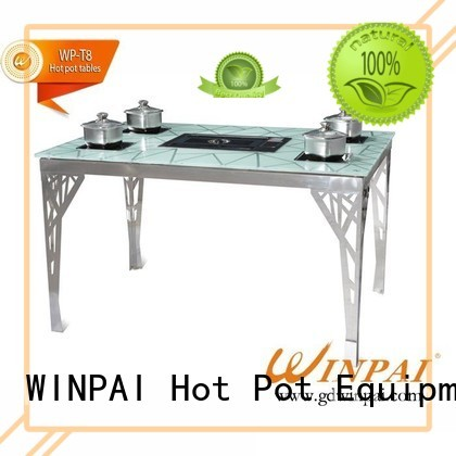 WINPAI New barbecue table and chairs Supply for restaurant