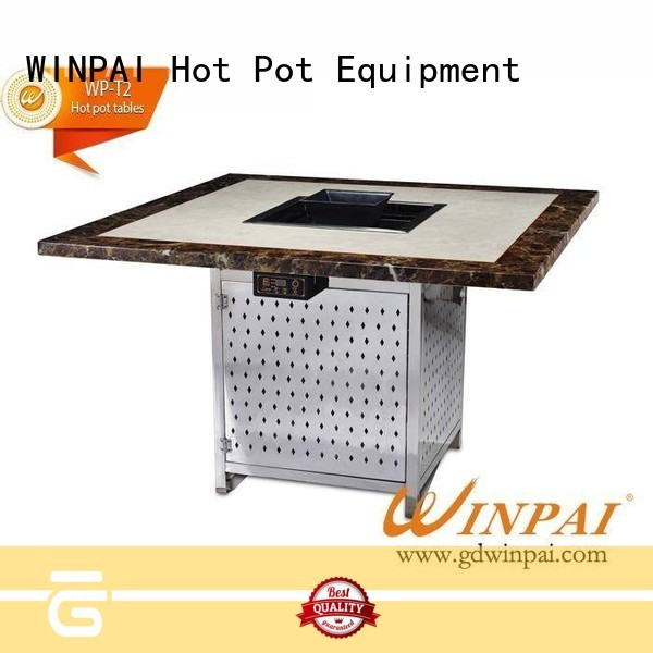 WINPAI smokeless korean barbecue grill table wholesale for star hotel