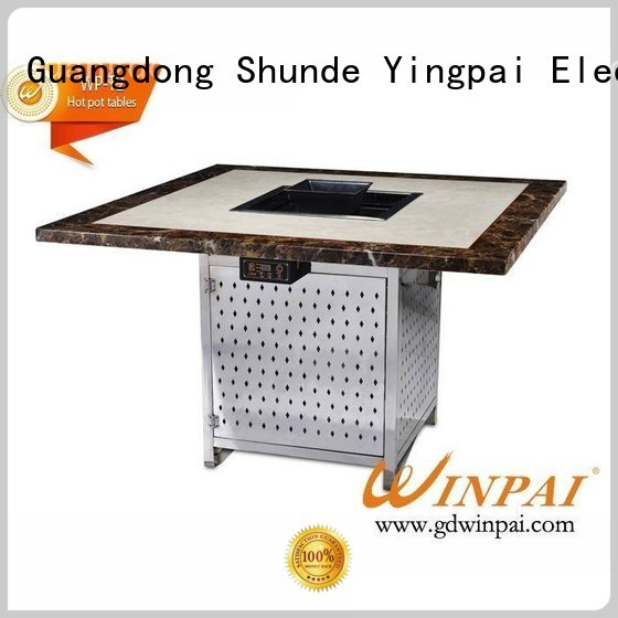 WINPAI iron korean barbecue grill table series for star hotel