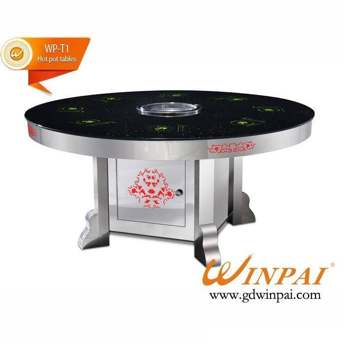WINPAI'S Hot Pot With BBQ Grill Table