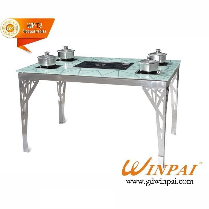 Hot pot tables with grill-WINPAI a series of pot furnace