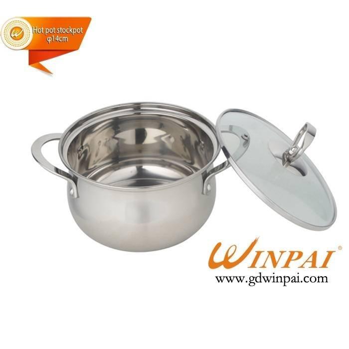 Fine single stainless steel apple hot pot stock pot-WINPAI