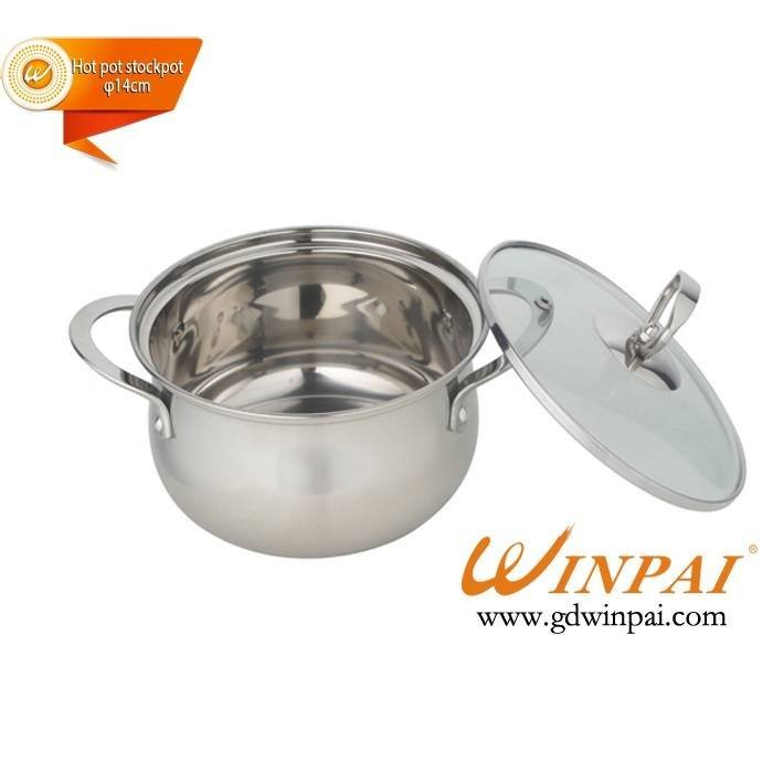 Fine single stainless steel apple hot pot stock pot-WINPAI