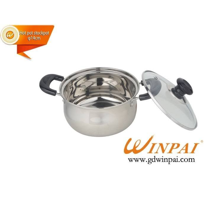 2015 stainless steel apple hot pot stock pot (Electric wooden handle)-WINPAI