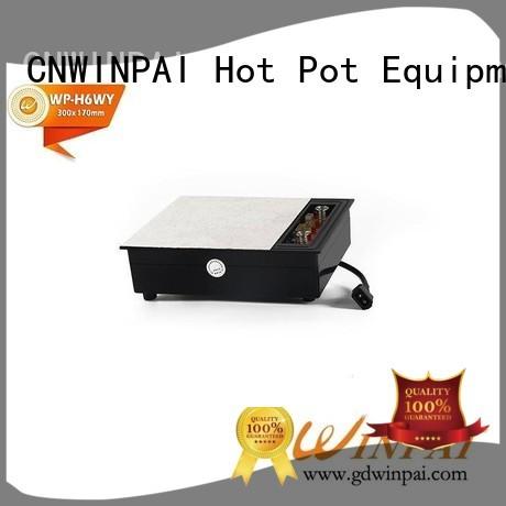square Custom cabinets hot pot cookware wooden CNWINPAI