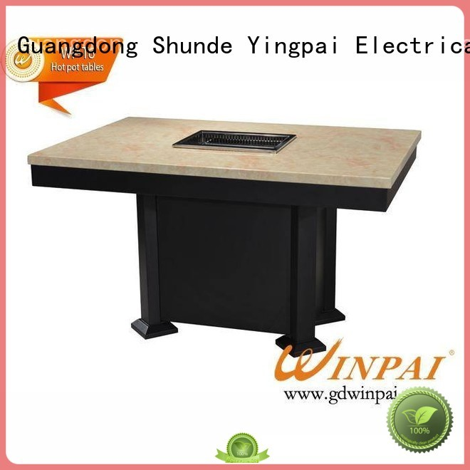 WINPAI smokeless korean bbq grill table supplier for hot pot city