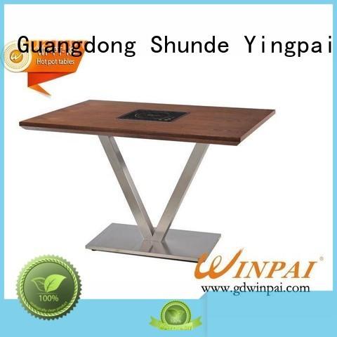 WINPAI built in hot pot table factory for hotpot city