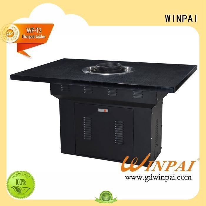 WINPAI safety korean bbq grill table manufacturer for cafe