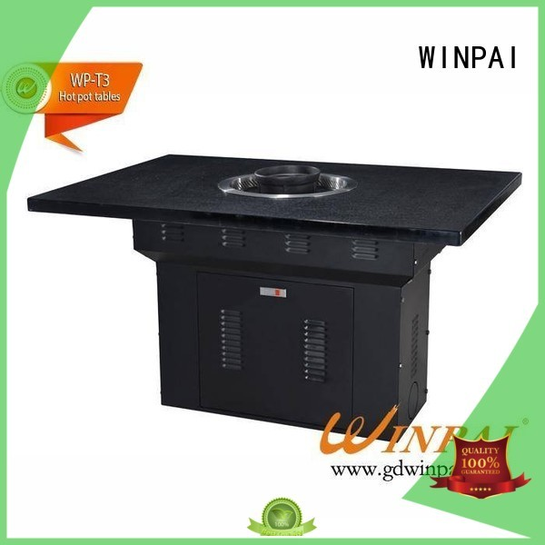 WINPAI Custom the barbecue table supplier for cafes