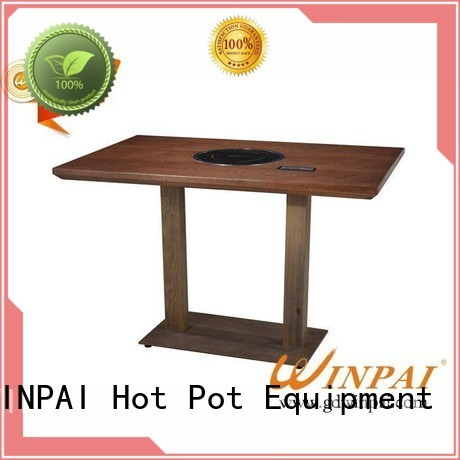 WINPAI pot built in hot pot table supplier for star hotel