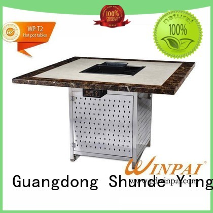 Square Hot Pot Table With BBQ Grill Wholesaler-WINPAI