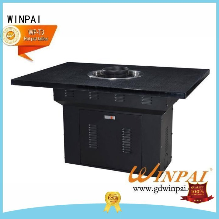 WINPAI restaurant 8 seater bbq table Suppliers for hot pot city
