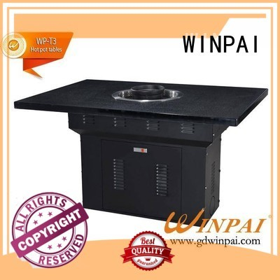 New korean barbecue grill table pot Suppliers for cafes