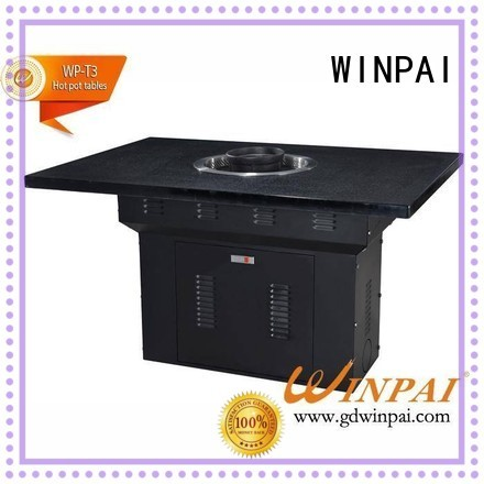 WINPAI professional korean bbq grill table wholesale for restaurant