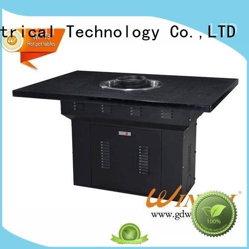 chinese steamboat cooker lidwinpai stylish CNWINPAI Brand korean bbq grill table