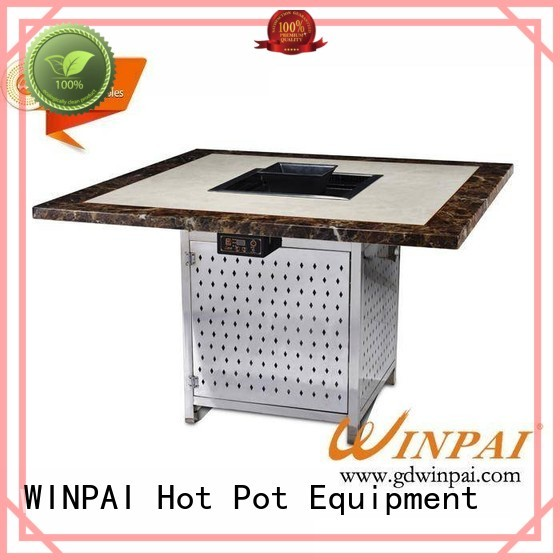 WINPAI smokeless foldable bbq table supplier for restaurant