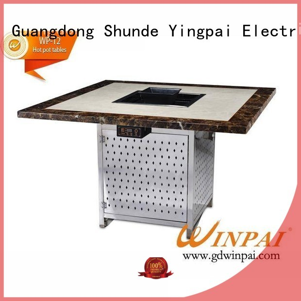 WINPAI top table built in grill manufacturer for hot pot city