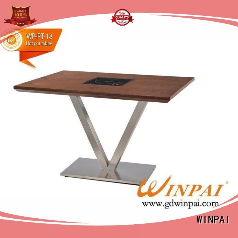 WINPAI tables shabu shabu pot supplier for restaurant