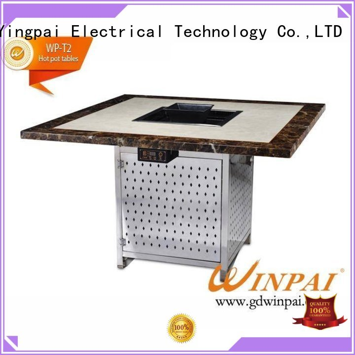 WINPAI barbecue table and chairs manufacturer for star hotel