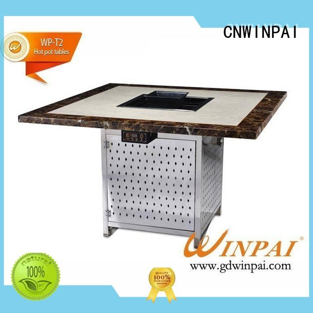 chinese steamboat cooker sale fast korean bbq grill table fireproof CNWINPAI Brand