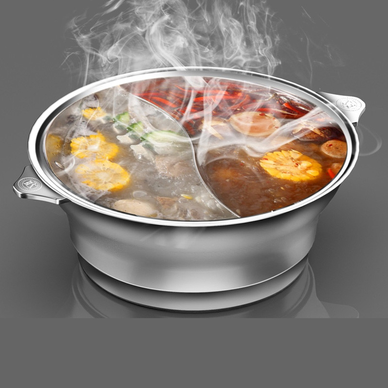 2 flavored stainless steel pots