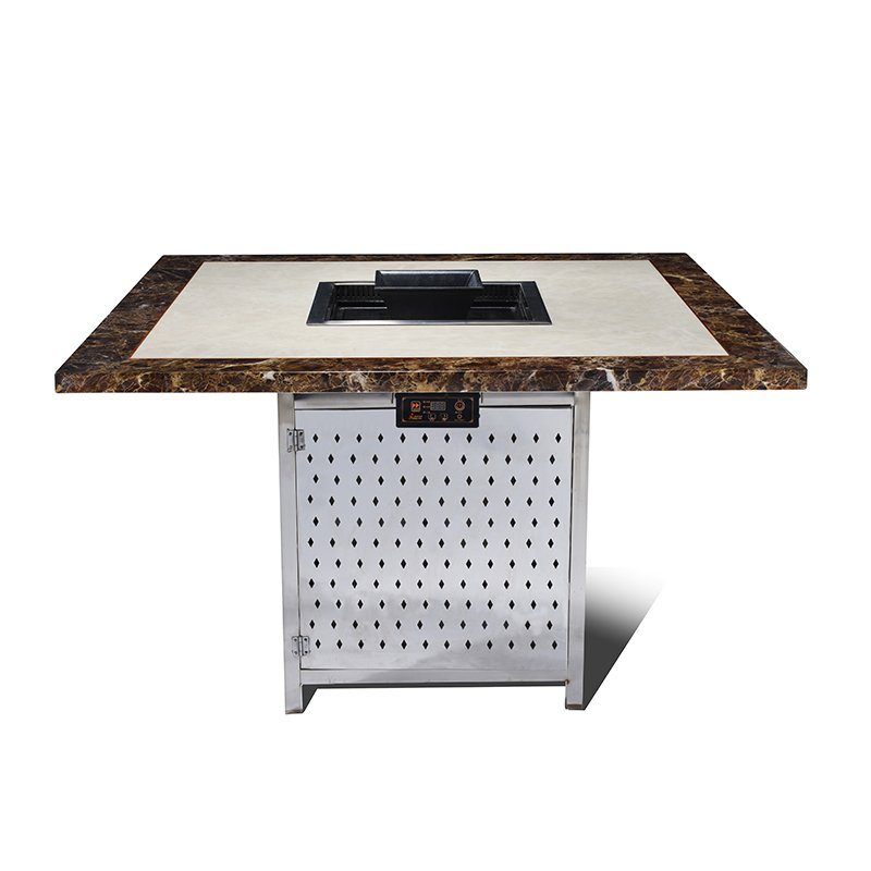 video-Square Hot Pot Table With BBQ Grill Wholesaler-WINPAI-WINPAI-img-1