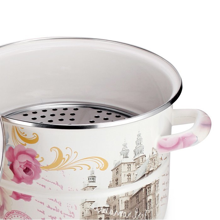 Hot sale Features double-thick enamel soup and hot pot steamer-WINPAI