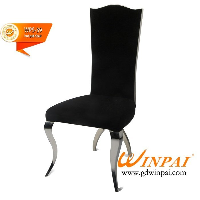 American style hot pot chair comfortable stainless chair for dining room-WINPAI