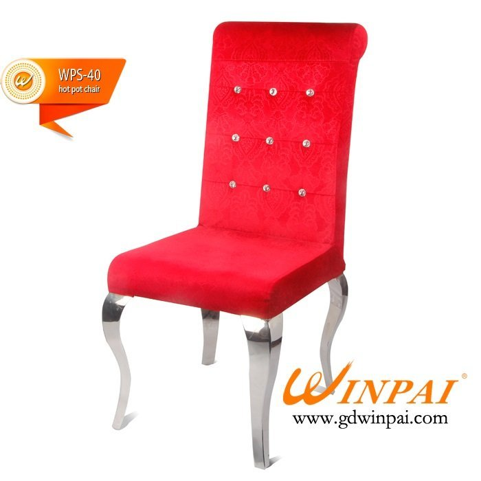 WINPAI Top stackable steel chairs supplier for living room