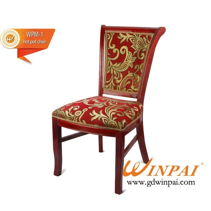 Best quality wooden hot pot chair OEM-WINPAI