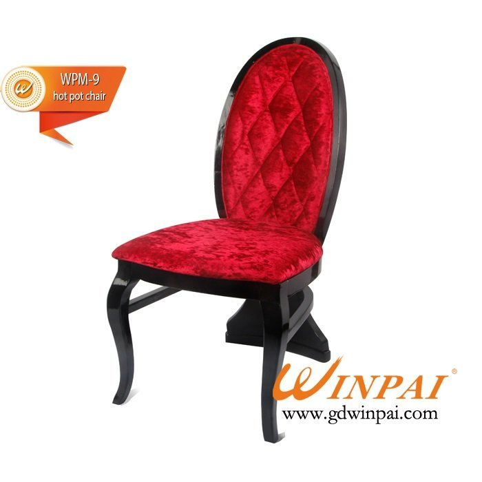 New style wooden dining chair,hotel chair,hot pot chair- WINPAI