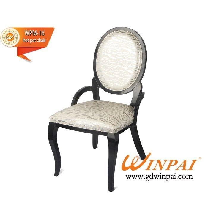 WINPAI Elegant design dining chair,hotel chair,hot pot chair ( PU covered)