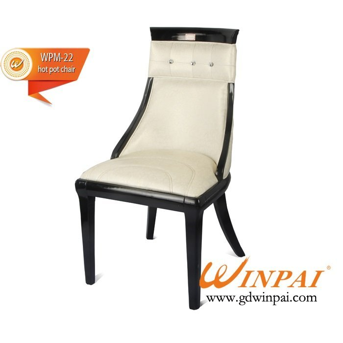 Good quality wooden chairs for hot pot restaurant, hotel, banquet, dining places-WINPAI