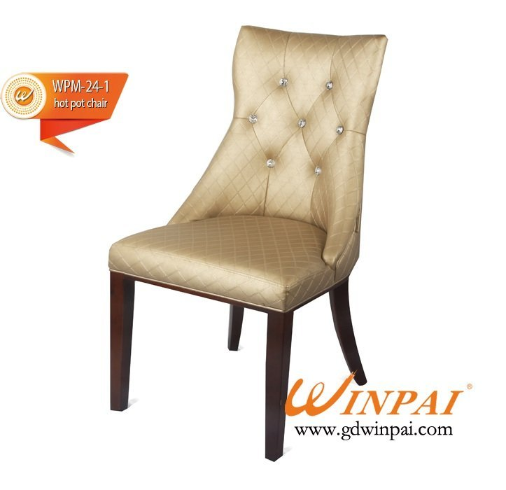 2015 WINPAI modern and hot selling pu leather dining chairs