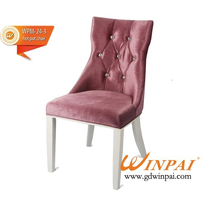 WINPAI good design dining chair,hotel chair,hot pot chair ( flannel covered)