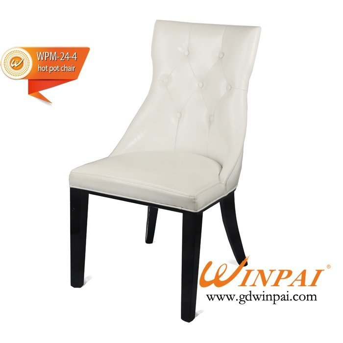 White dining chair,hotel chair,hot pot chair ( PU covered)-WINPAI