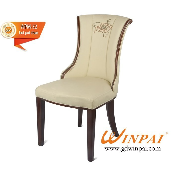 Import wooden dining chair (flannel covered) for banquet, restaurant,party from China -WINPAI