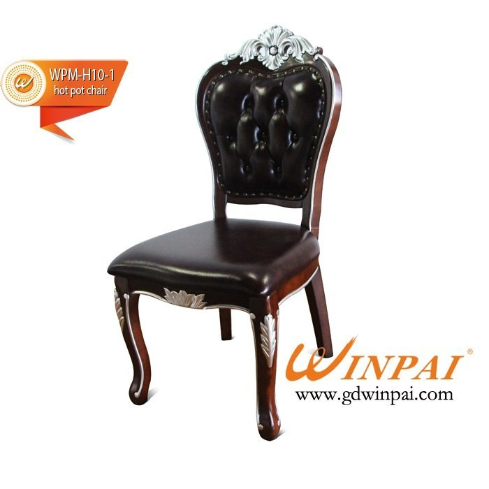 2015 High-end hotel chair,restaurant chair,dining chair-WINPAI Walnut wood chair
