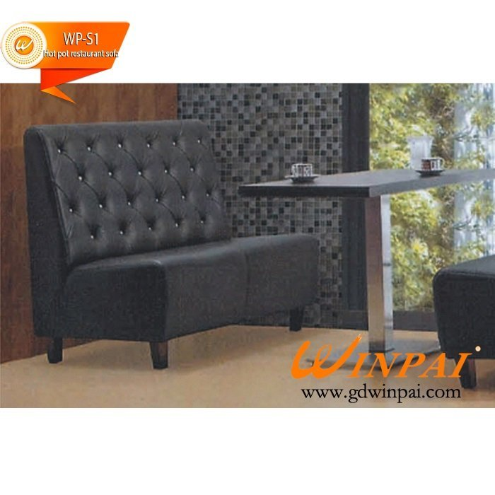 Korean Restaurant, Cafe wood dinette sofa cafe tables and chairs factory –WINPAI