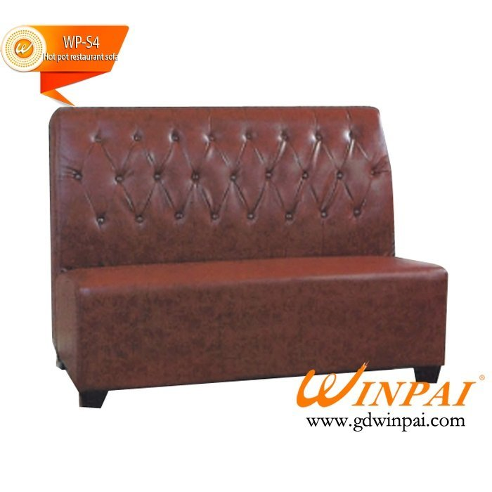Custom leather sofa,hotel sofa,high back deck sofa,hotel sofa,Restaurant sofa-WINPAI
