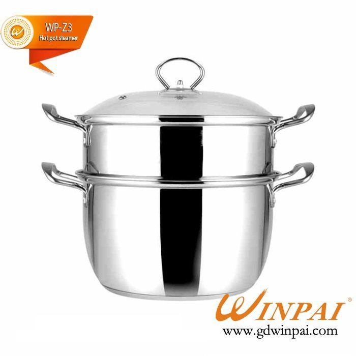 Stainless Steel Hot Pot with Steamer of WINPAI